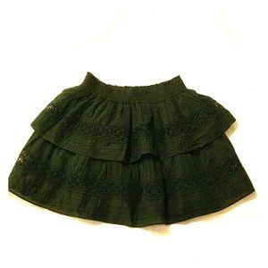 Loveshackfancy Black Skirt Small S Lace Crochet